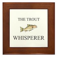 The Trout Whisperer Framed Tile