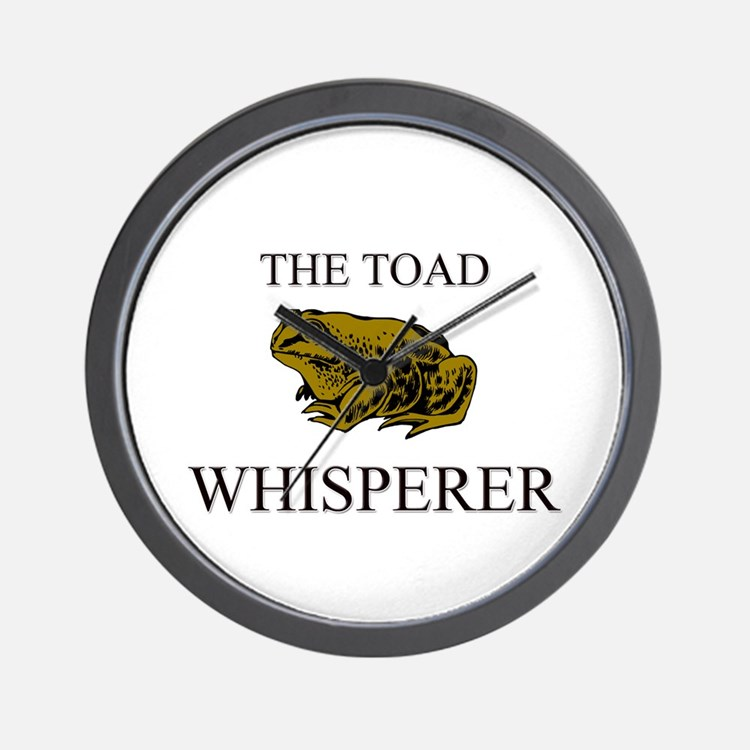 The Toad Whisperer Wall Clock