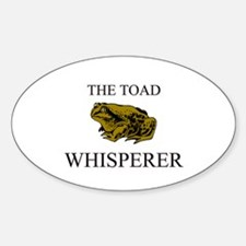 The Toad Whisperer Oval Decal