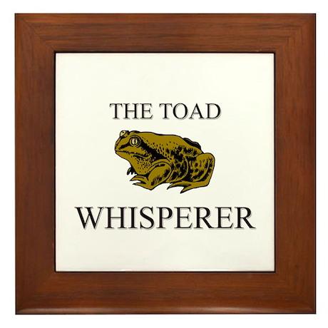 The Toad Whisperer Framed Tile