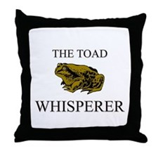 The Toad Whisperer Throw Pillow