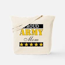 Proud Stars Army Mom Tote Bag
