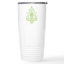 Green Line Fleur de lis Travel Mug