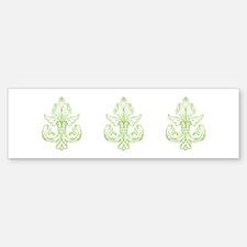Green Line Fleur de lis Bumper Sticker (10 pk)