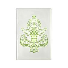 Green Line Fleur de lis Rectangle Magnet