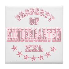 Pink Property Of Kindergarten XXL Tile Coaster