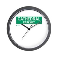 Cathedral Parkway in NY Wall Clock