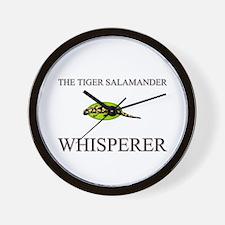 The Tiger Salamander Whisperer Wall Clock