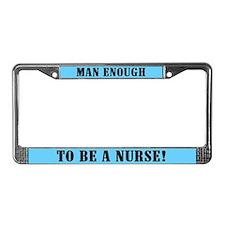 Male Nurse License Plate Frame