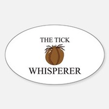 The Tick Whisperer Oval Decal