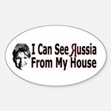 Looking at Russia Oval Decal