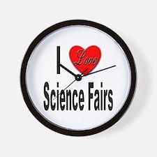 I Love Science Fairs Wall Clock