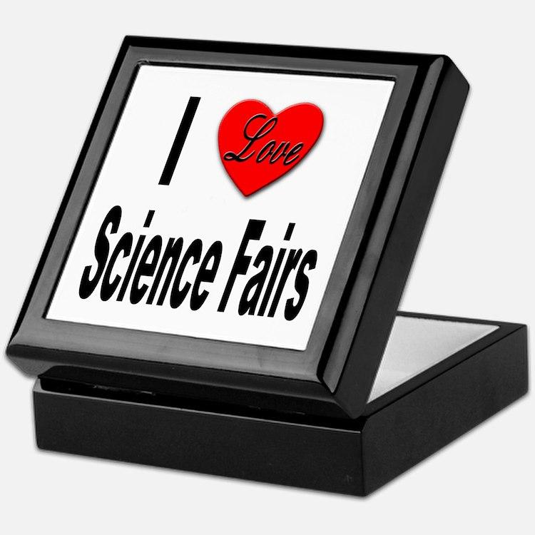 I Love Science Fairs Keepsake Box