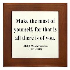 Ralph Waldo Emerson 19 Framed Tile