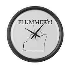 flummery Large Wall Clock