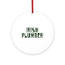 Irish Plumber Ornament (Round)