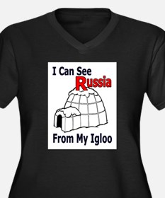 I see russia Women's Plus Size V-Neck Dark T-Shirt