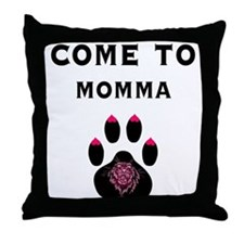 Cougar: Come to Momma Throw Pillow