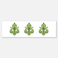 Mardi Gras Green Fleur de lis Bumper Bumper Sticker