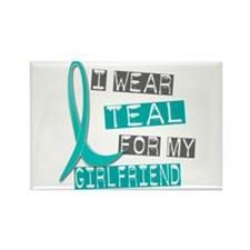 I Wear Teal For My Girlfriend 37 Rectangle Magnet