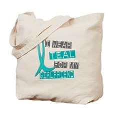 I Wear Teal For My Girlfriend 37 Tote Bag