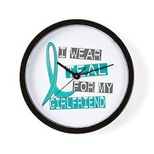 I Wear Teal For My Girlfriend 37 Wall Clock