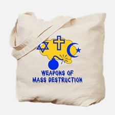 Religion Mass Destruction Tote Bag
