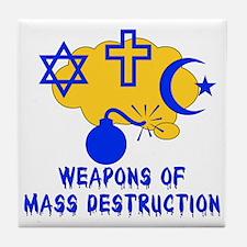 Religion Mass Destruction Tile Coaster