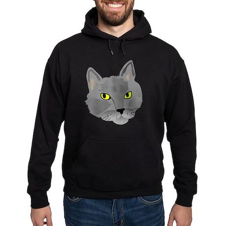 Gray Cat Hoodie (dark)