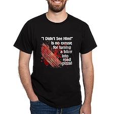 Mens Black Road Pizza T-Shirt