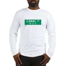 Canal Street in NY Long Sleeve T-Shirt
