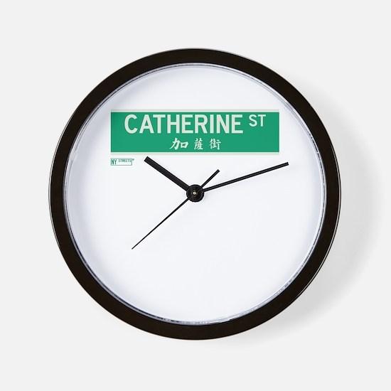 Catherine Street in NY Wall Clock