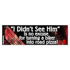 Black Road Pizza Bumper Bumper Sticker