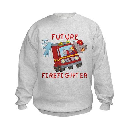 Fire Truck Future Firefighter Kids Sweatshirt