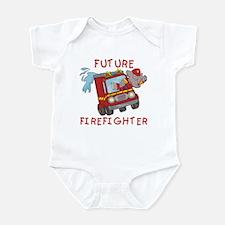 Fire Truck Future Firefighter Infant Bodysuit