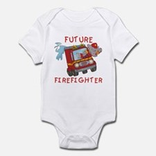 Fire Truck Future Firefighter Onesie