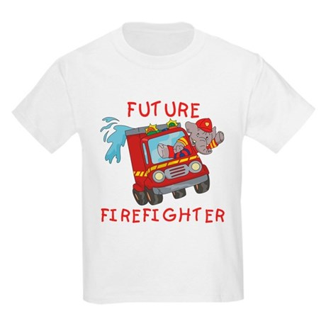 Fire Truck Future Firefighter Kids Light T-Shirt