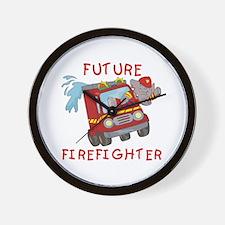 Unique Fire truck kids Wall Clock