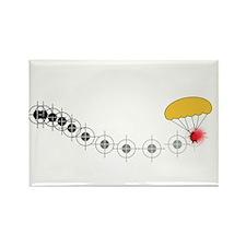 Follow the golden parachute... Rectangle Magnet