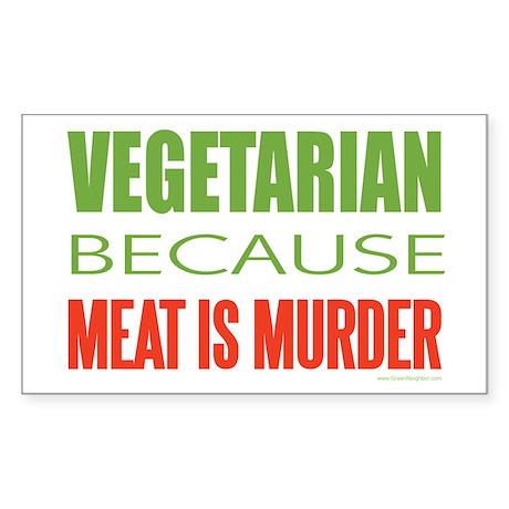 Vegetarian Sticker (Rectangle)
