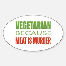 Vegetarian Sticker (Oval)