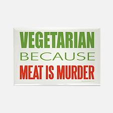 Vegetarian Rectangle Magnet
