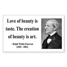 Ralph Waldo Emerson 21 Rectangle Decal