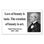 Ralph Waldo Emerson 21 Rectangle Sticker