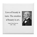 Ralph Waldo Emerson 21 Tile Coaster