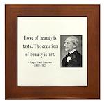 Ralph Waldo Emerson 21 Framed Tile