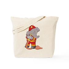 Elephant Firefighter Tote Bag