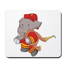 Firefighter With Hose Mousepad
