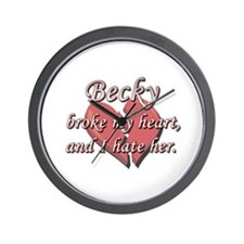 Becky broke my heart and I hate her Wall Clock