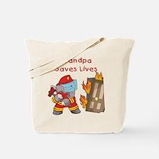 Firefighter Grandpa Tote Bag